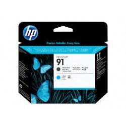 C9460A, Cartouches HP 91 Matte Black and Cyan DesignJet Printhead | C9460A, Cartouches, HP