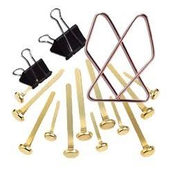 Paquet de 12 attaches-clips métal 50 mm|ATTA008|ybureau