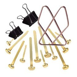 Paquet de 12 attaches- clips apli 32 mm|ATTA022|ybureau