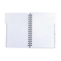 Cahier clairefontaine à spirales petits carreaux 224p a4 |CARE005|ybureau