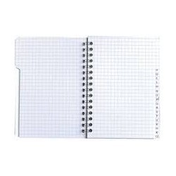 Cahier à spirale calligraphe 100 pages petits carreaux|CARE029|ybureau