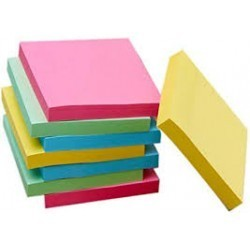 Notes repositionnables avec des lignes  150 mm x 101 mm jaune|NORE023|ybureau