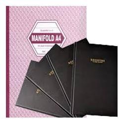 Registre comptable 25x32 cm 80 pages couverture en carton rigide|REMA010|ybureau