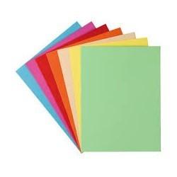 Paquet de 100 chemises chrono couleurs  240g/m2|CHCA007|ybureau