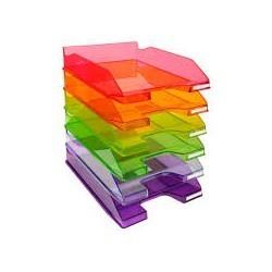 Panier à courrier ark en plastique transparent 2 niveaux|PACO007|ybureau