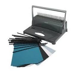 Machine manuelle de reliure et perforation atlas 2 en 1 pour reliure plastique/métal 450 f MARE028 ybureau