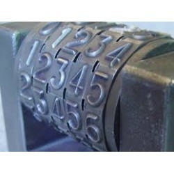 Numérateur shiny n-a8 à encrage séparé 8 chiffres 15 mm NUME012 ybureau