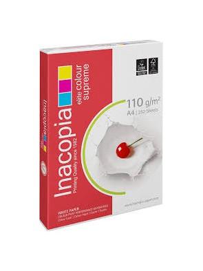 Ramettes de papier blanc inacopia a4 110g/m² 250 feuilles|PAPL0016|ybureau
