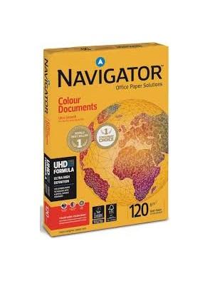 Ramettes papier blanc navigator a4 120g/m² 250 feuilles|PAPL0022|ybureau