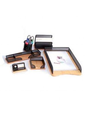 Ensemble de bureau en métal avec fond en bois 6 pièces ENBU012 ybureau HY-3513