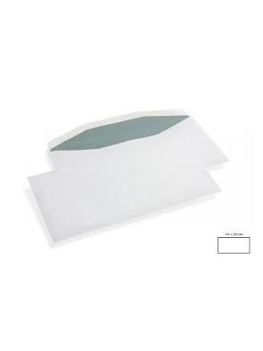 1000 Enveloppe patte trapèze gommée yener 115x230 mm 80g/M2 sans fenêtre|ENVBL034|ybureau