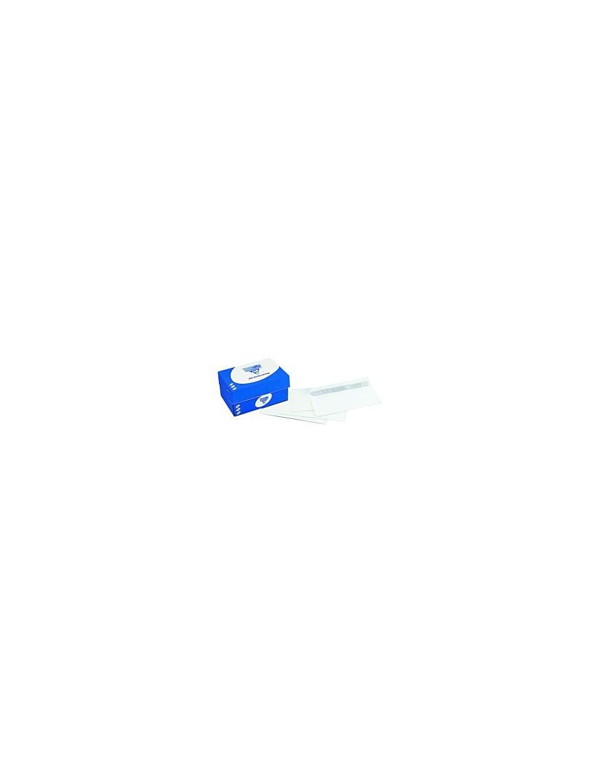 boite de Enveloppe blanches clairalfa 110x220 mm 90g/M2 avec fenêtre|ENVKR022|ybureau