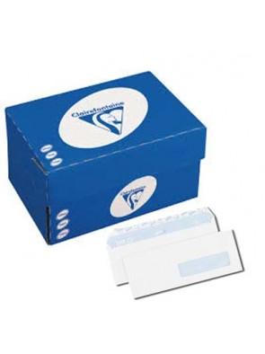 boite de Enveloppe blanches clairalfa 162x229 mm 90g/M2 avec fenêtre|ENVKR027|ybureau