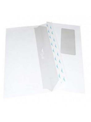 Enveloppe américaines unipapel 115x225 mm 90g/M2 avec fenêtre|ENVBL024|ybureau